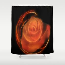 Fractal Rose Shower Curtain