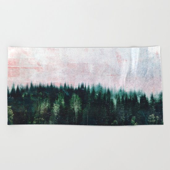 Deep dark forests Beach Towel