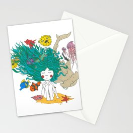 Sea Girl Stationery Cards