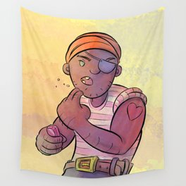 Stowaway Pirate Wall Tapestry