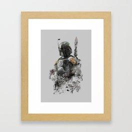 Boba Fett Grunge Framed Art Print
