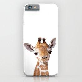 Baby Giraffe, Baby Animal Art Prints By Synplus iPhone Case