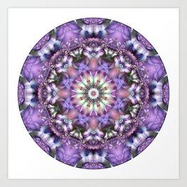 Lilac Mandala Art Print