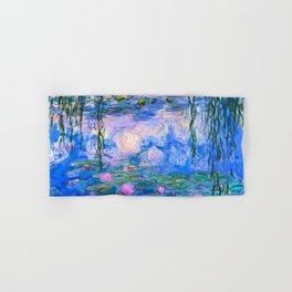 Water Lilies Claude Monet Restored Hand & Bath Towel