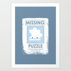 The Missing Puzzle Art Print