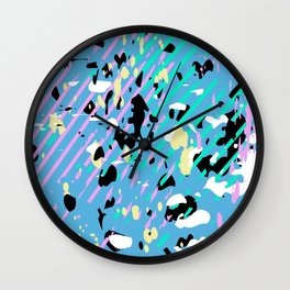 Paint Stains Wall Clock