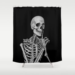 Silence please Shower Curtain