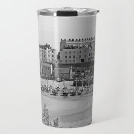 Tenby Harbour. Black+White. Reflection. Travel Mug