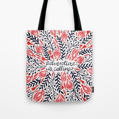 Adventure is Calling – Red & Black Palette Tote Bag