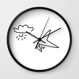 hang-glider aviation Wall Clock