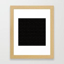 Black and Gold X cross sign pattern Framed Art Print