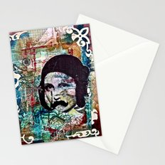 Life Can Be Hard. So Put on a Moustache and Love One Another. Stationery Cards