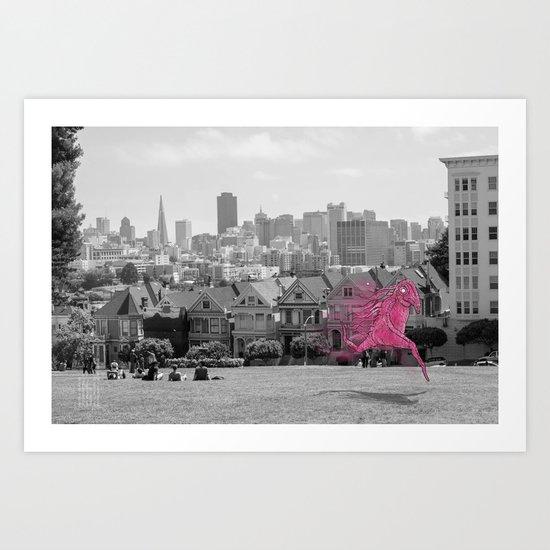 Unseen Monsters of San Francisco - Twizzly Grogache Art Print