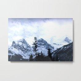 Mystic Three Sisters Mountains - Canadian Rockies Metal Print