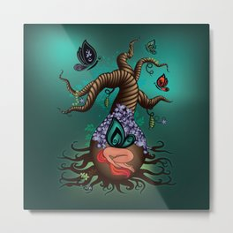 Gnarly Butterfly Tree Metal Print
