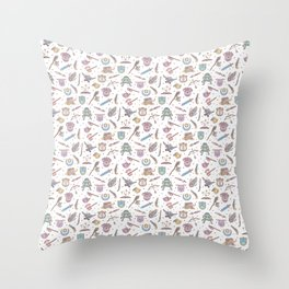 Cute Dungeons and Dragons Pattern Throw Pillow
