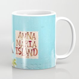 Anna Maria Island Map Coffee Mug
