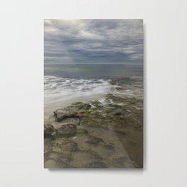 Reef, Sky and Sea Foam at Swami's, Encinitas, California Metal Print