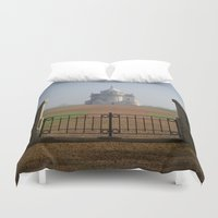 the national Duvet Covers featuring Necropole National by davehare