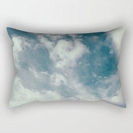 Soft Dreamy Cloudy Sky Rectangular Pillow