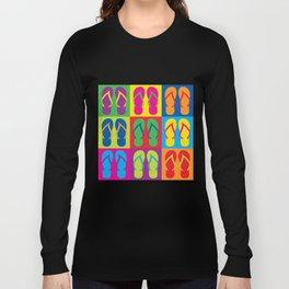 Pop Art Flip Flops Long Sleeve T-shirt