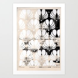 Newspaper Floral Cut Out Art Print