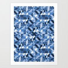 Aztec Geometric V Art Print