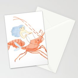 The Magnificent Shrimp Rider Stationery Cards