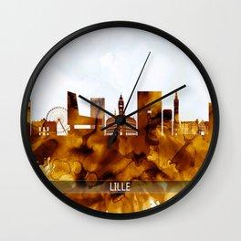 Lille France Skyline Wall Clock