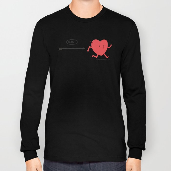 Follow the Heart Long Sleeve T-shirt