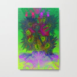 Rooster Scratch (abstract, psychedelic) Metal Print