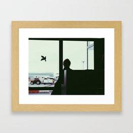 waiting for the plane Framed Art Print