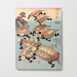 Utagawa Kuniyoshi Strange and Wondrous Immortal Turtles Metal Print