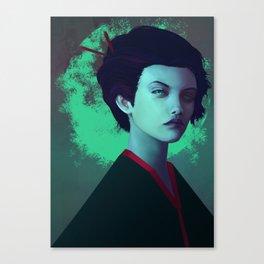 Moon Girl Canvas Print
