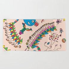 childish motifs Beach Towel