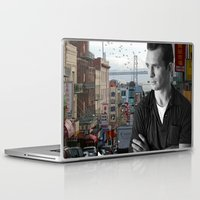 kerouac Laptop & iPad Skins featuring Jack Kerouac San Francisco  by All Surfaces Design