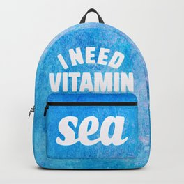 I Need Vitamin Sea Blue Backpack