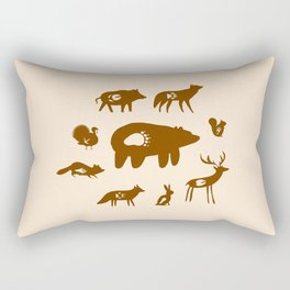 Nature Trail in Coffee and Cream Rectangular Pillow