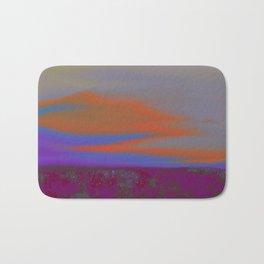 """Twilight Meadow"" (Magenta/Orange) Digital Painting // Fine Art Print Bath Mat"