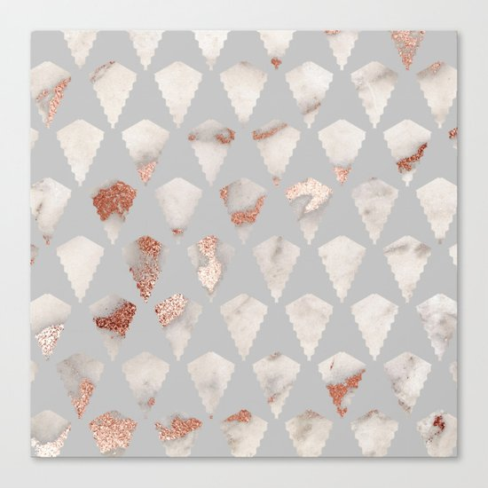Rose gold marble pattern Canvas Print