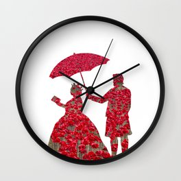 Poppy Queen Wall Clock