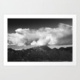 Mountain Storžič, Slovenia underneath clouds Art Print