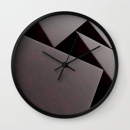 Red stone prisms pattern Wall Clock