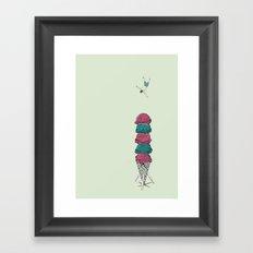 Ice Cream Diving  Framed Art Print