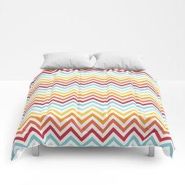 Rainbow Chevron #2 Comforters