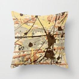 Miniature Original - Brown nuetral Throw Pillow