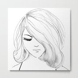 Colorless Emotions Metal Print