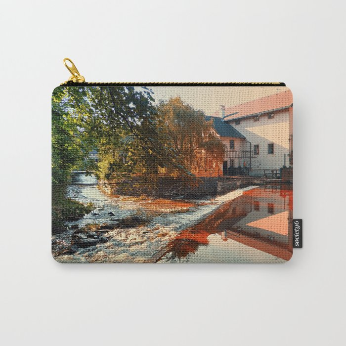 The river, a country house and reflections | waterscape photography Carry-All Pouch