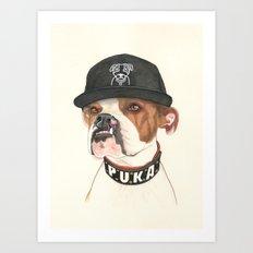 Boxer dog - F.I.P. - @chillberg (#pukaismyhomie)  Art Print