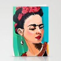 frida Stationery Cards featuring Frida by Jaleesa McLean